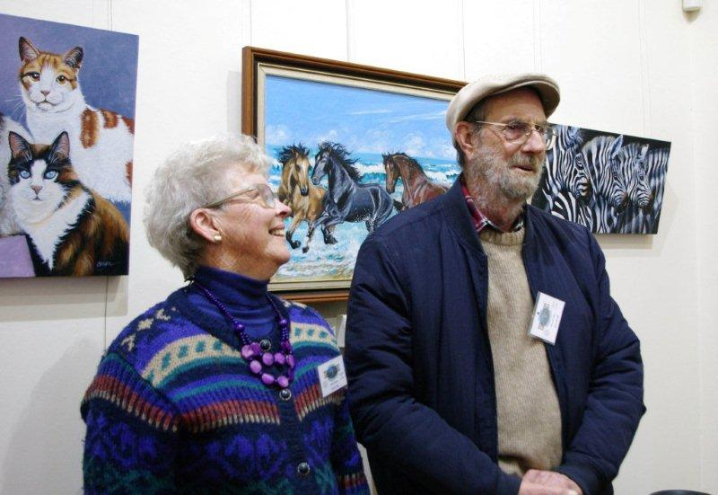 Ron Brook & Carol Clue opening the exhibitions at the Gawler Community Gallery