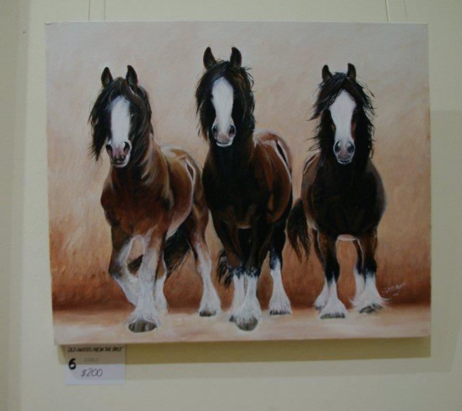 "Ellen Stynes painting ""Old Mates"""