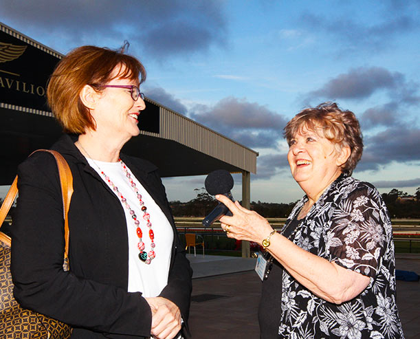 Marilyn and Town of Gawler Mayor Karen Redman at the Gawler Jazz Festival 2016 Launch