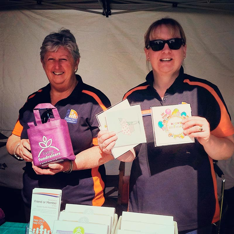 Help out the Gawler Health Foundation by stopping at their stall and buying a card, all proceeds help our local hospital