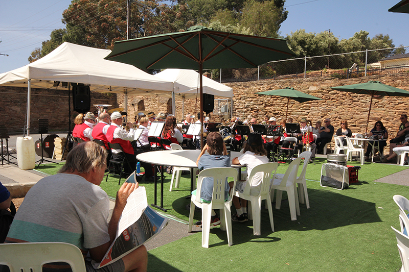 The big band played through the afternoon