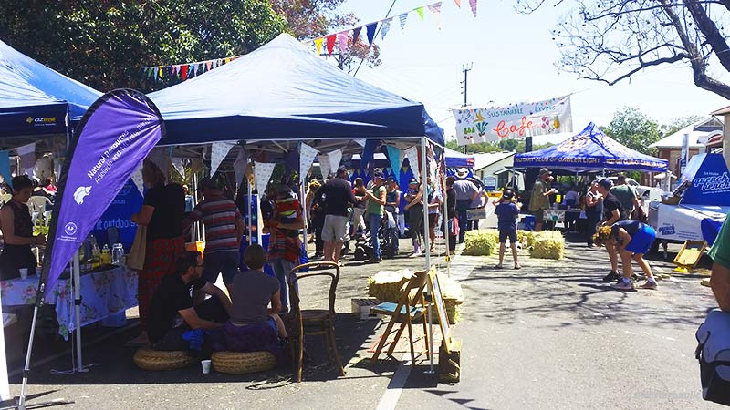 The Sustainable Living Festival turned out to be a busy place to be this Sunday morning