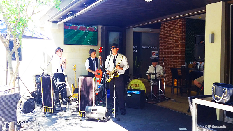 The Dukes of Jump livened up the atmosphere at the Golden Fleece on Sunday afternoon