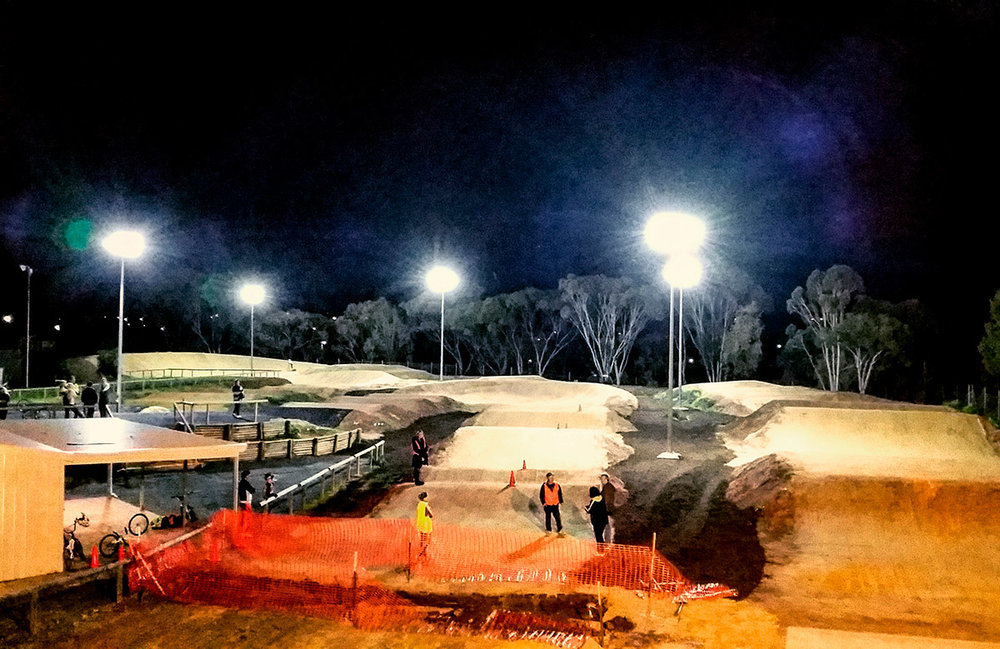 The Gawler BMX Club unveiled their new lights during the Gawler Cycling Festival