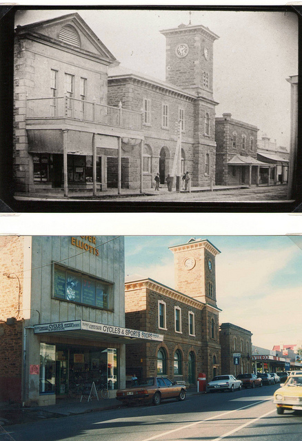 The old Post Office & Clock Tower building on Murray St,  photo courtesy of the Gawler History Team
