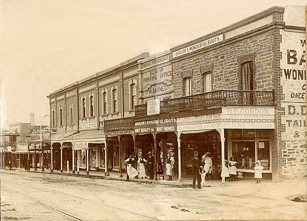 Murray St in 1890 was already a growing concern     (Image courtesy of the Gawler History Team)