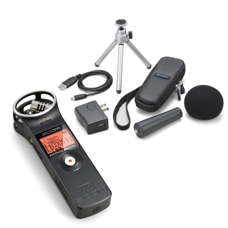 Many of our interviewers use the simple to operate Zoom H1 recording kit