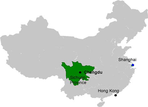 Szechuan (Sichuan) Province within China