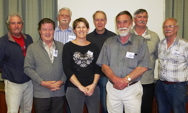 The Gawler History Team Executive 2015-16 .  L to R: Paul Barnet, Ray Hicks, Paul Webb, Nicole Stomaci, Michael Denison, Brian Thom, Robert Laidlaw, Ian McDonnell      (Image courtesy of the Gawler History Team)