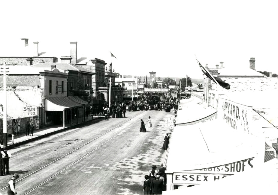 Murray St in the 1890s  ( Image courtesy of the Gawler History Team )