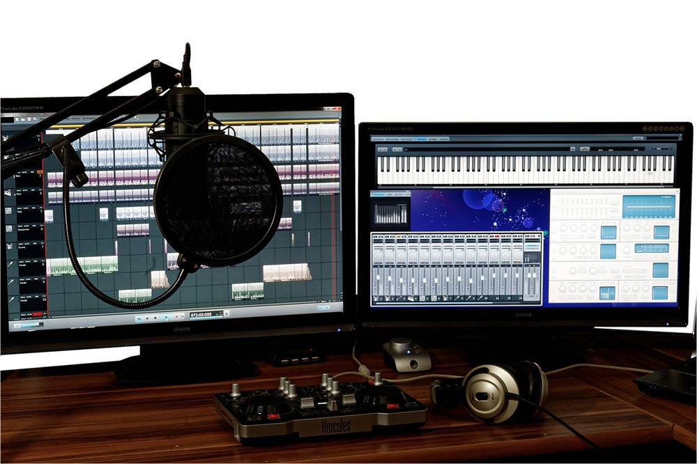 Home audio editing studio