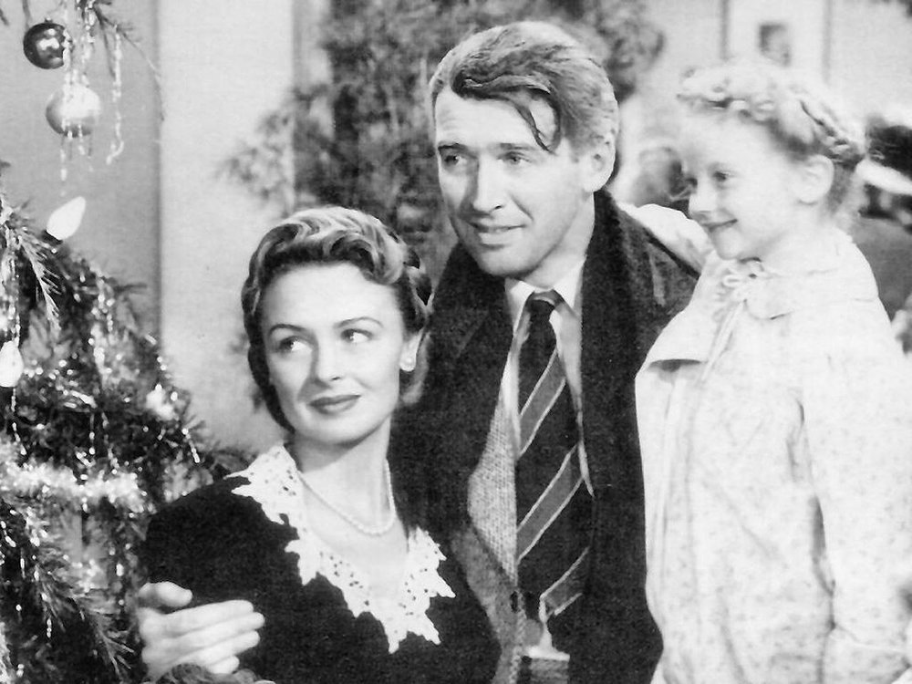 A Christmas favourite for more than 70 years - It's a Wonderful Life will be playing again this Christmas on a TV near you   (image courtesy of Wikimedia Commons)