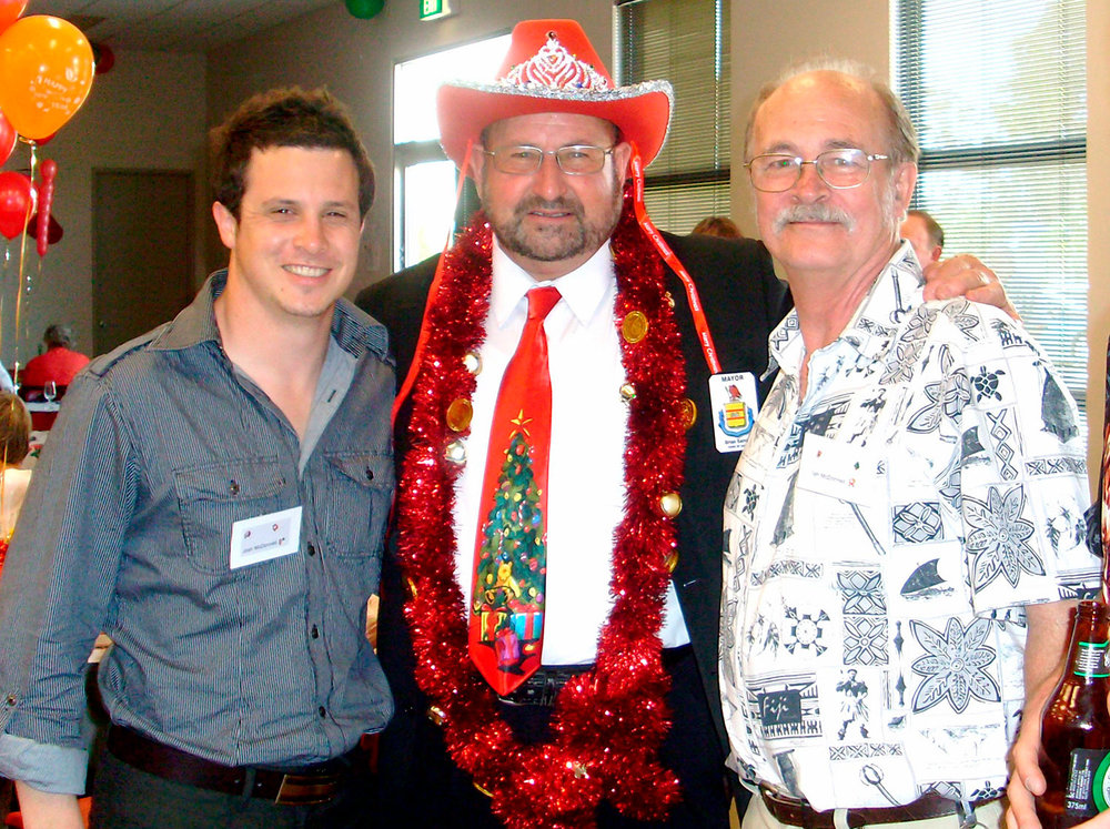 Ian, his son Josh and ex-mayor Brian Sambell
