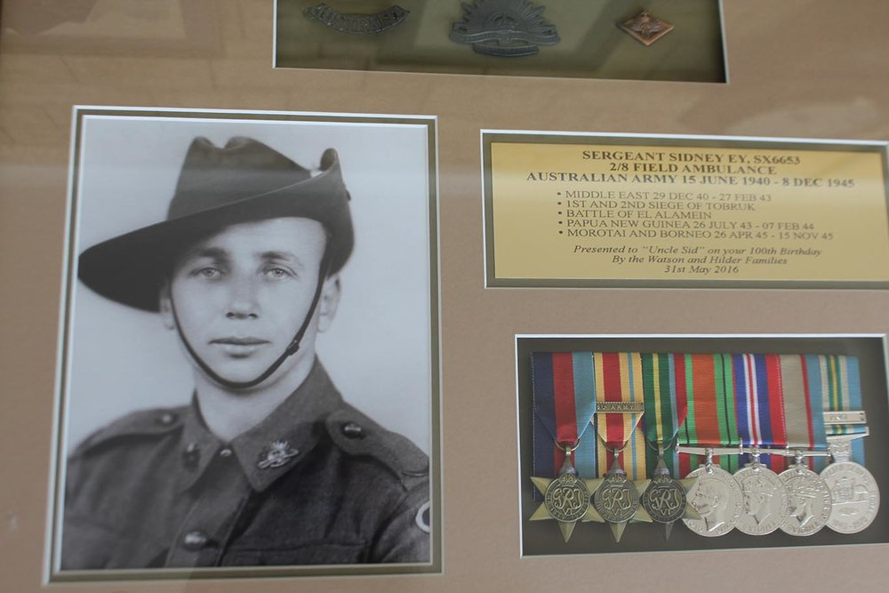 A young Sidney Ey. The War years.