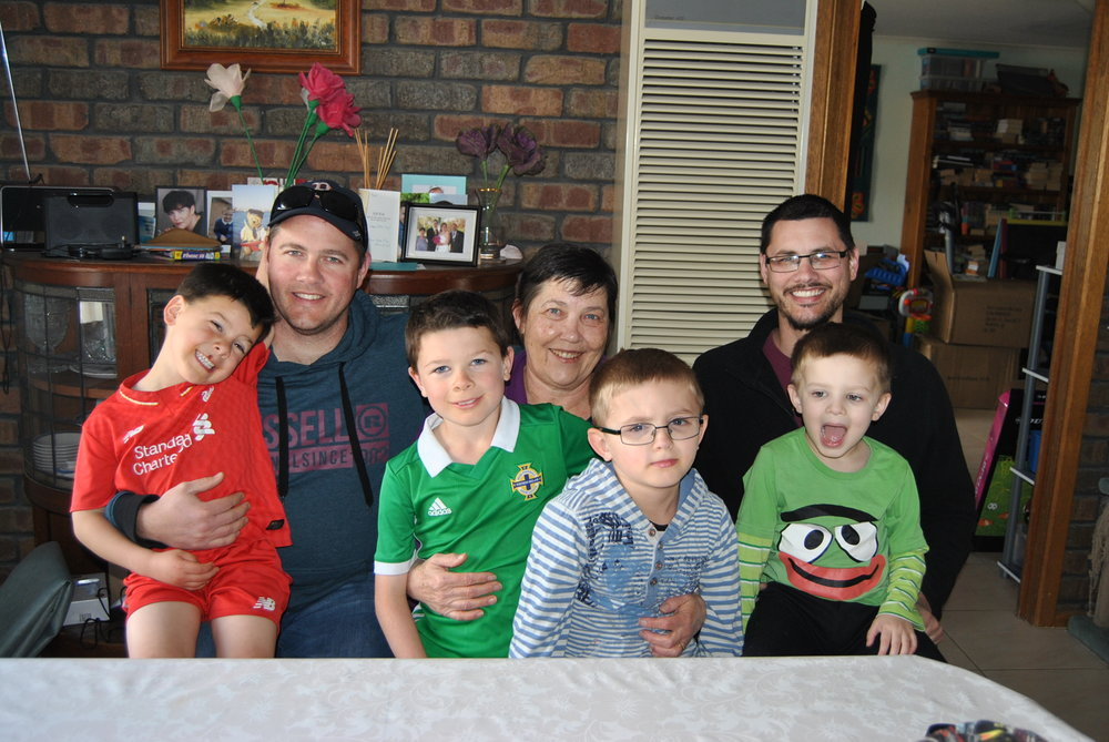 Deidre[centre], her two sons and grandsons form 3 generations to have attended the Gawler Primary School.