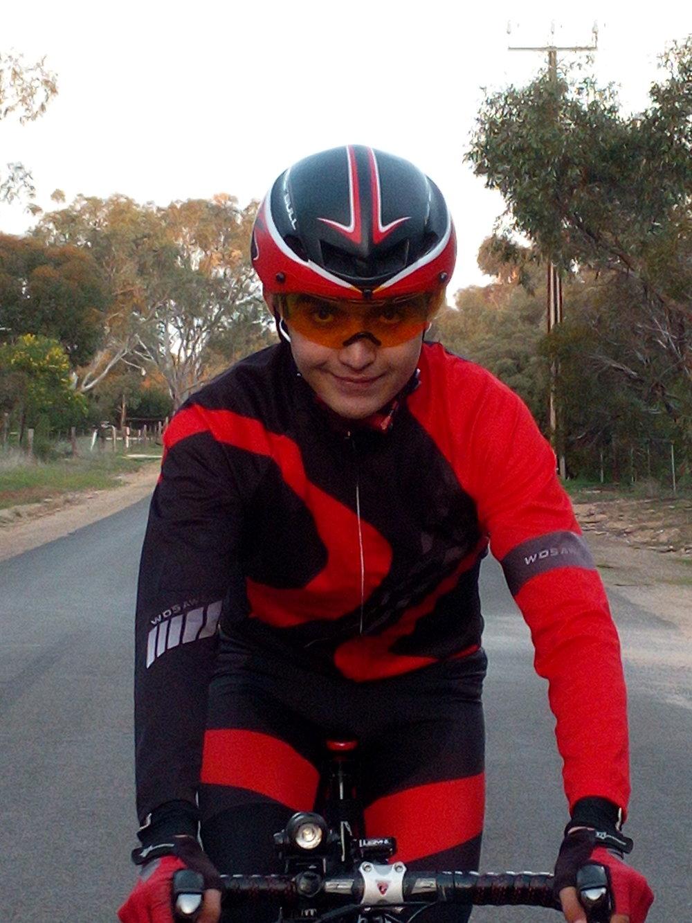 Kai on road bike.