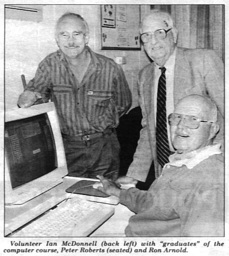 Bunyip article 1998 about Ian's computer course