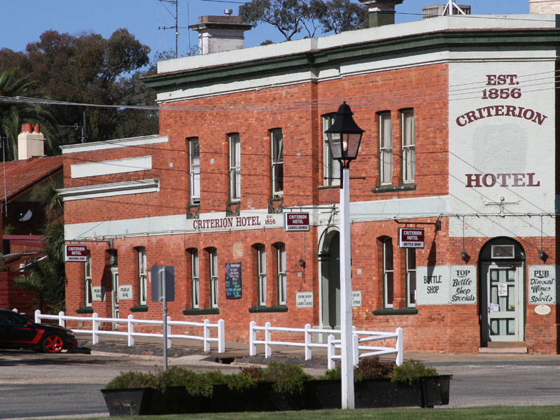 The hotel in Rushworth which features in the podcast. Karen and her friends childhood friends had a wonderful time here.