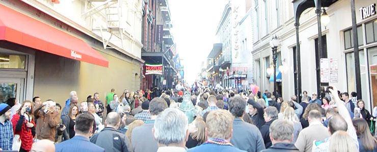 The WorkForce parade,which shut down main street.