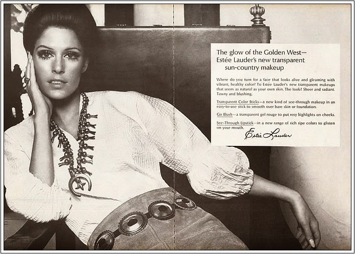 1969 Estee Lauder makeup ad Navajo and Concha Belt.jpg