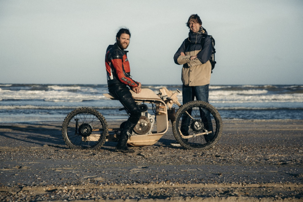 Wooden Motorcycle That Runs On Algae Fuel