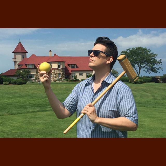 #ManOfMystery That's me! #capecod #brewster #massachusetts #croquet #yellowball