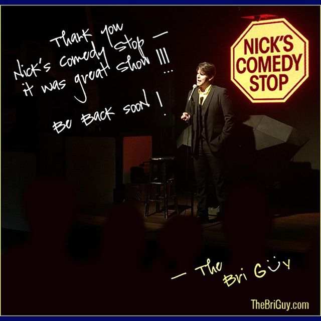 Had a great show at #NicksComedyStop in #Boston! Will be back soon! Join my e-list at http://www.TheBriGuy.com to know when and where I am performing next. #brianvermeire #TheBriGuy #briguycomedy #standup #observationalhumor