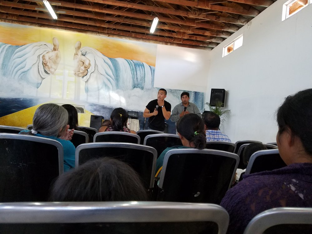 Sunday Service at Ven A Cristo. I can't wait for the day when I can preach without a translator.