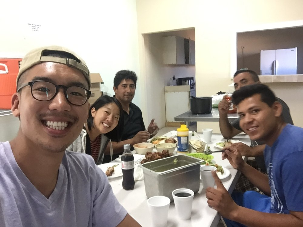 Weekly dinner with Arturo, Jaime and Chuy.