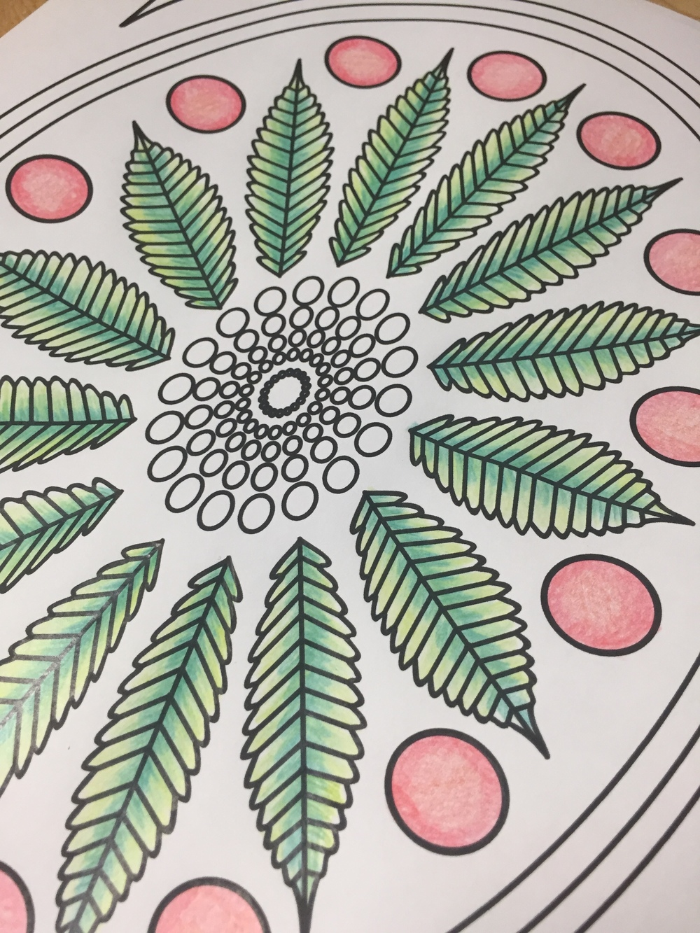 marijuana leaf stoner adult coloring