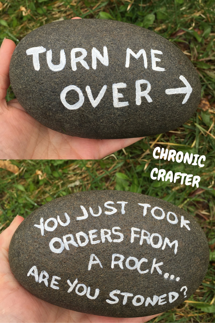 Painting Rocks Stoner DIY by Chronic Crafter