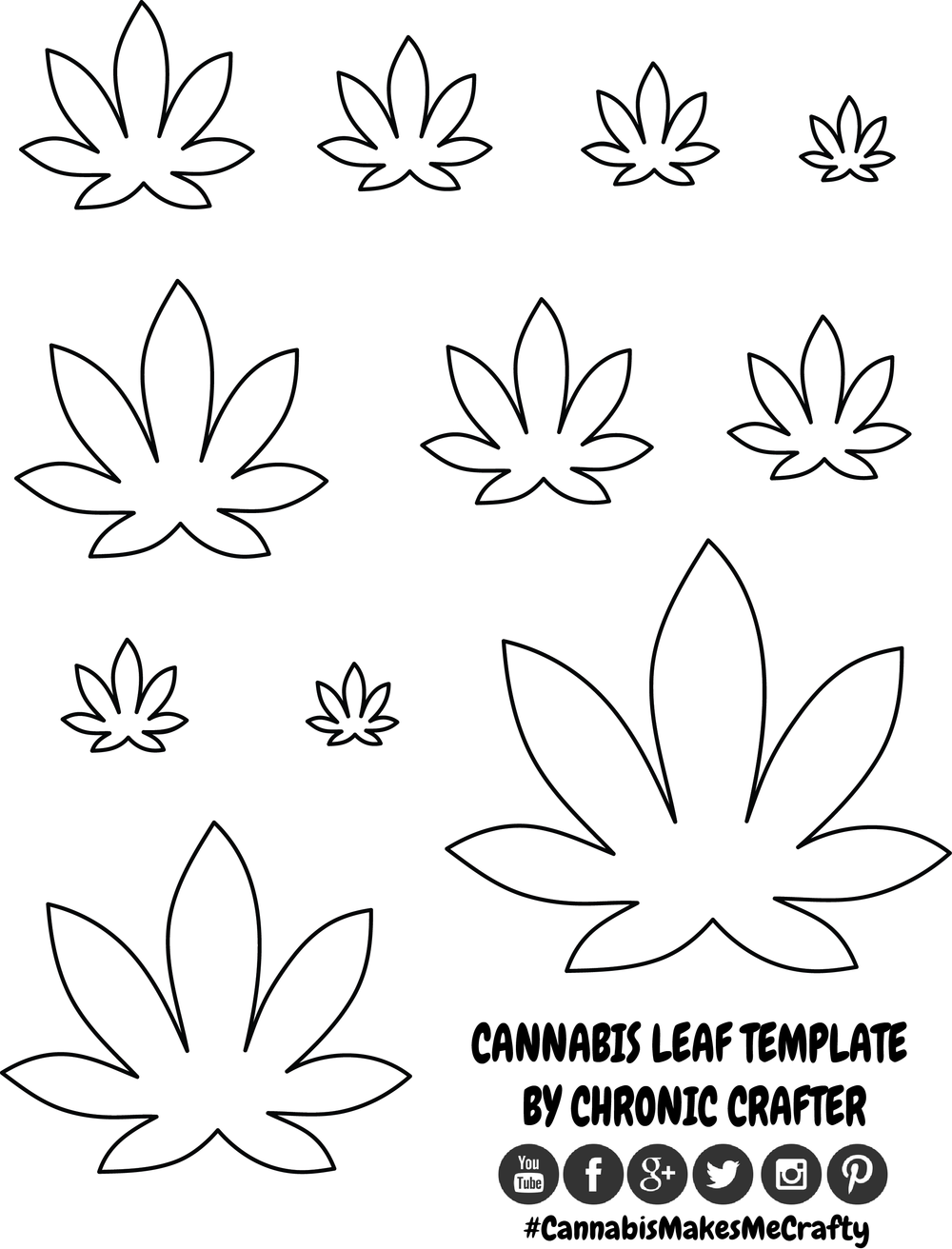 cannabis leaf template