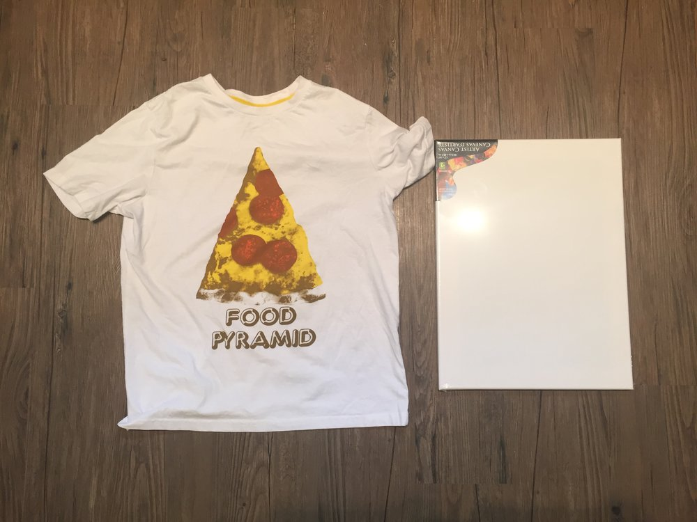 DIY Tutorial How to Turn a T Shirt into Wall Art Canvas