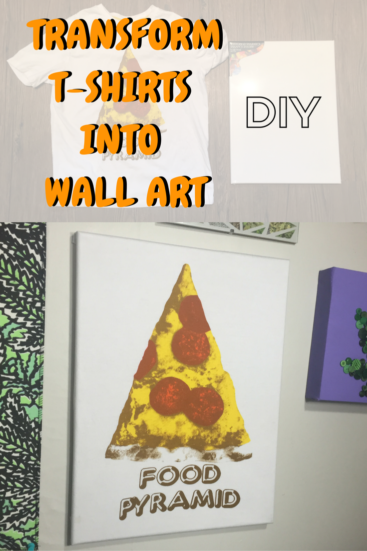 DIY Tutorial How to Turn a T Shirt into Wall Art