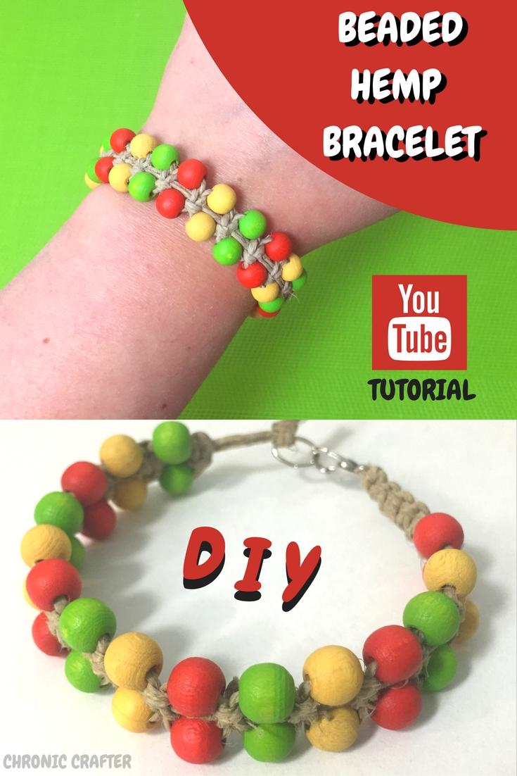 rasta beaded hemp bracelet