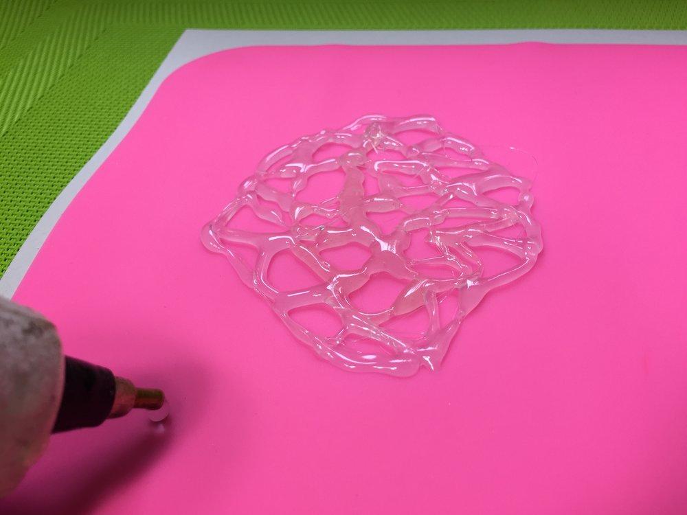 DIY glue gun stencil tutorial