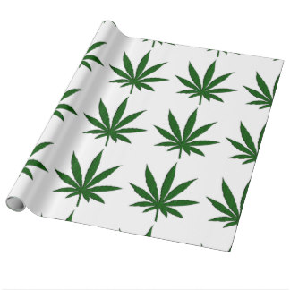 marijuana leaf wrapping paper