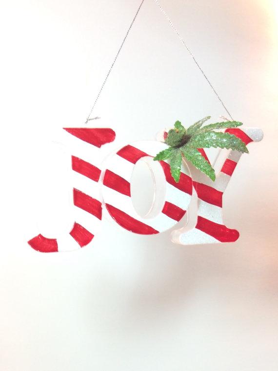 joy marijuana christmas ornament