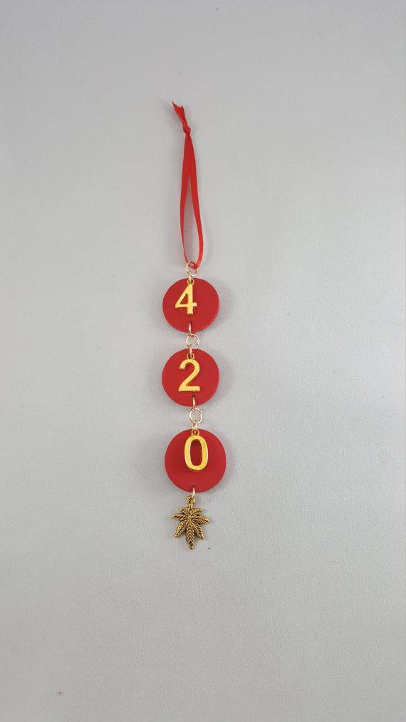420 christmas ornament