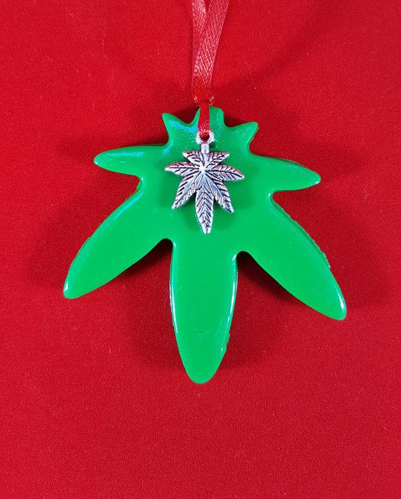 marijuana christmas ornament