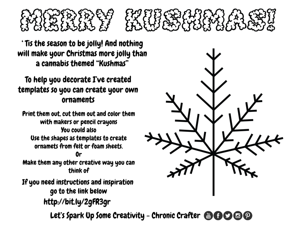 DIY Marijuana Themed Christmas (Kushmas) Ornaments a Reefer DIY