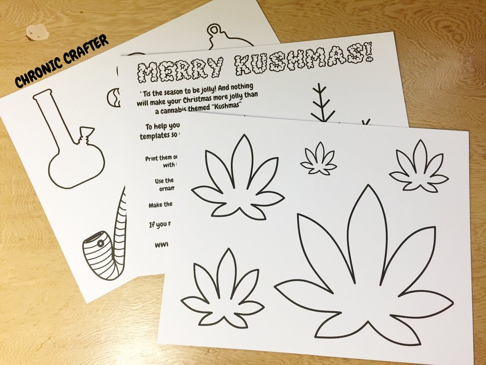How to Make DIY Marijuana Themed Christmas (Kushmas) Ornaments