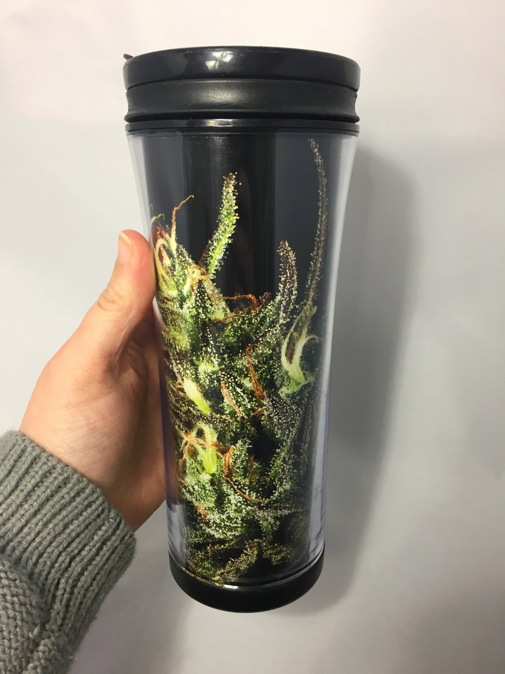 DIY Stoner Craft the Cannabis Covered Reefer Travel Coffee Tumbler