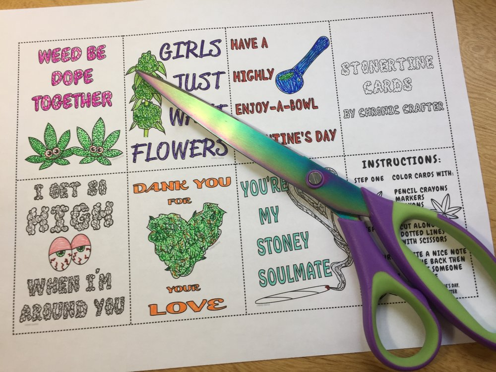 DIY Stoner Valentine's Day Cards
