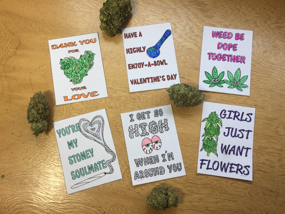 DIY Stoner Valentine's Day Cards by Chronic Crafter