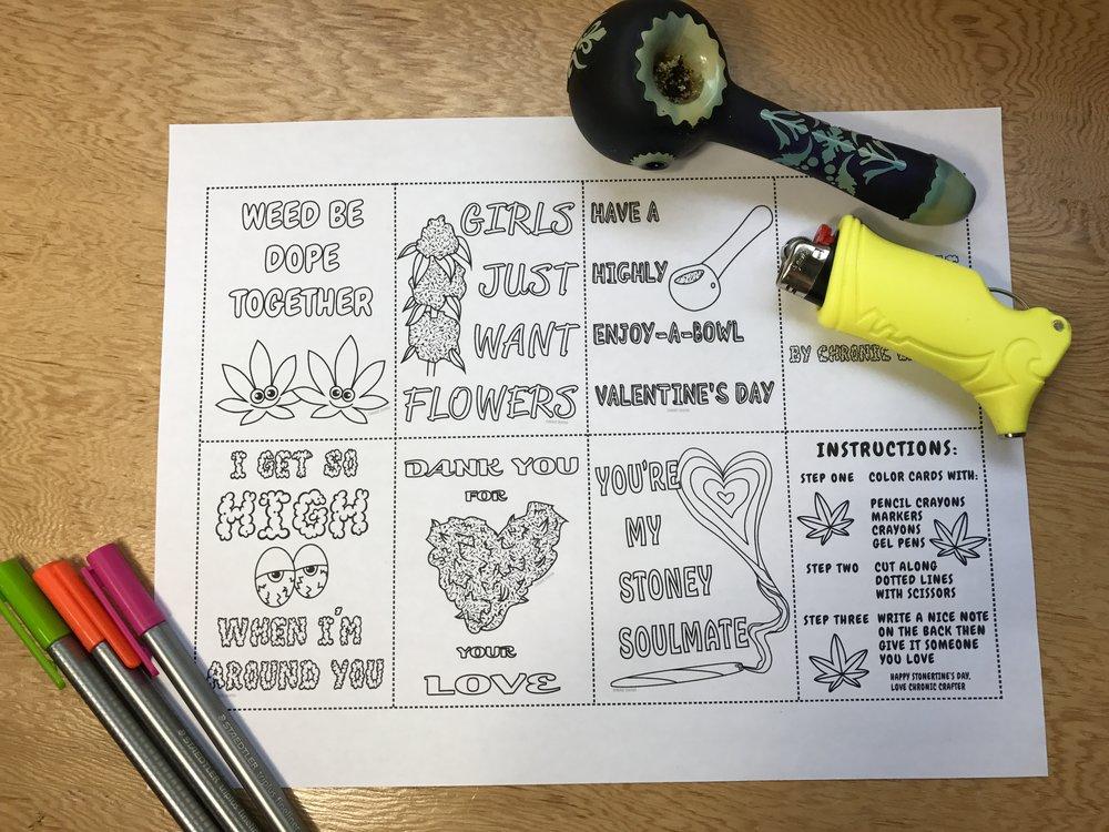 Stoner Valentine's Day Cards