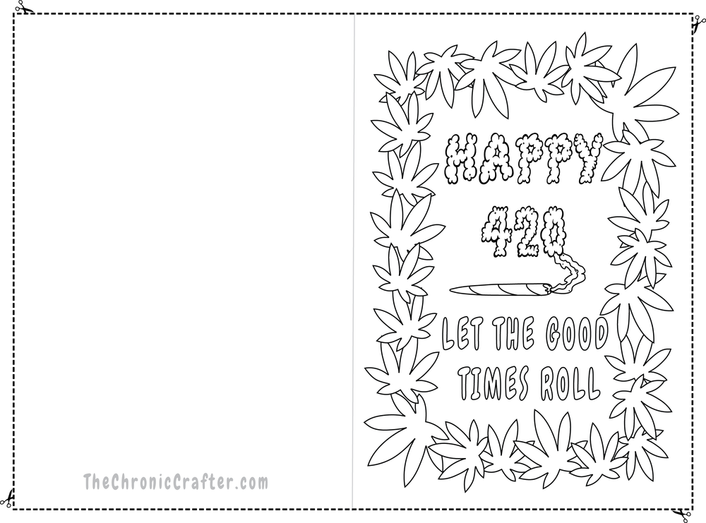 Free DIY Happy 4/20 Card for Stoners by Chronic Crafter