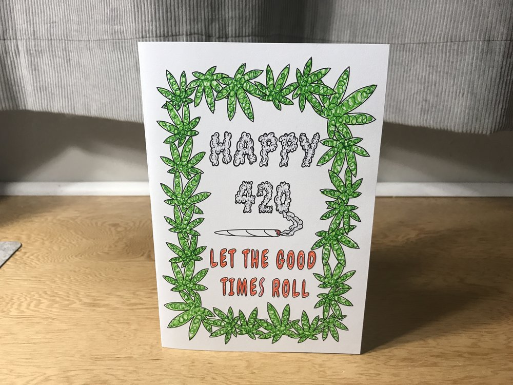 Free DIY Marijuana Themed Happy 4/20 Card for Stoners by Chronic Crafter