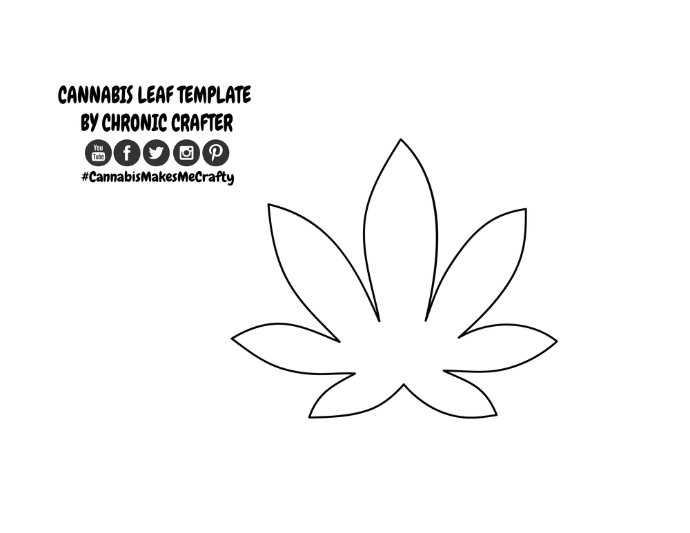 Template for Weed Leaf Wall Art by Chronic Crafter