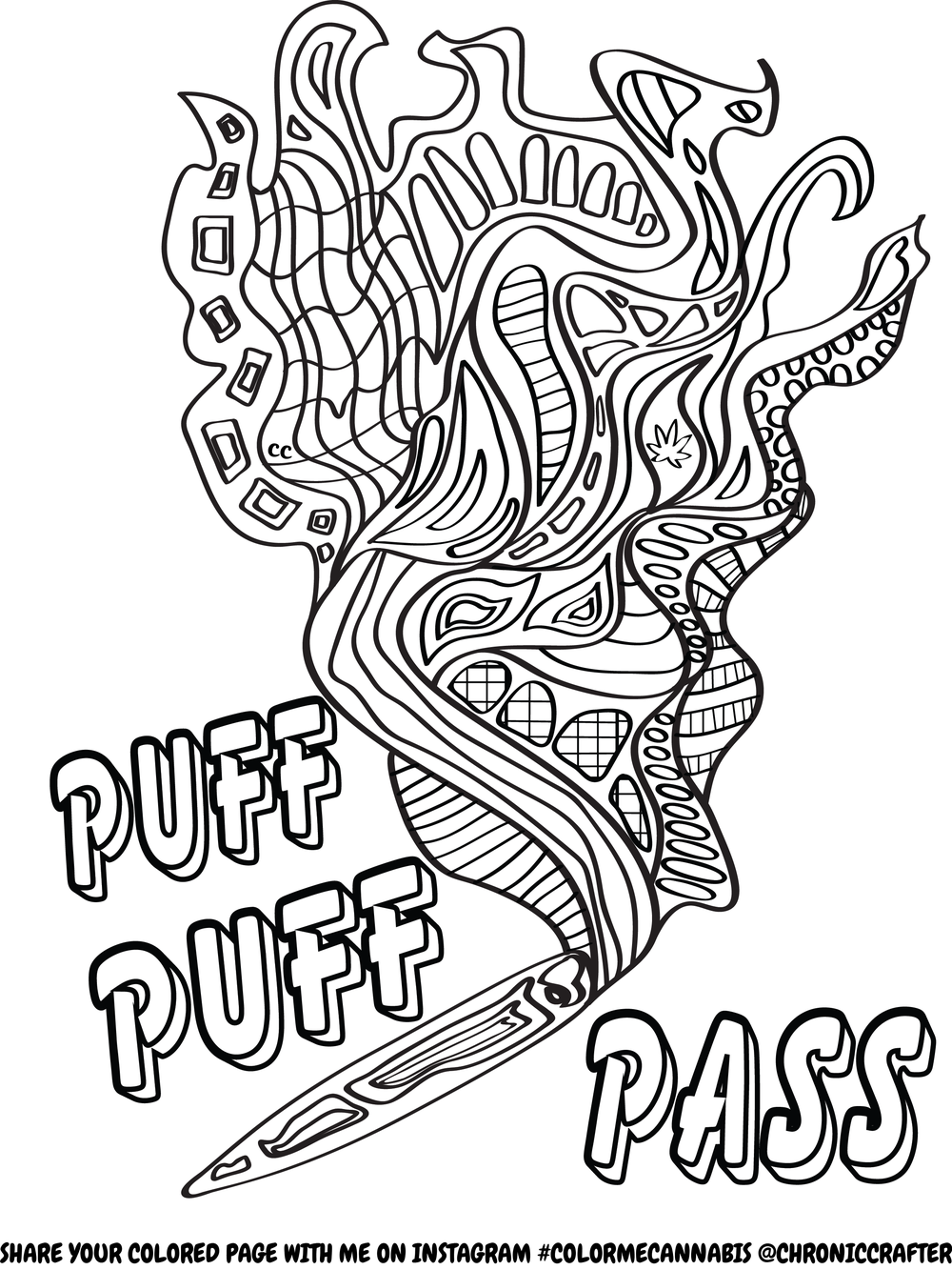 Free Stoner Coloring Page from Chronic Crafter